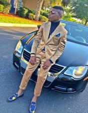 Shiny Flashy Gold Suit Perfect for Prom or Wedding