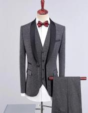 Mens Wedding ~ Prom Shawl Collar Vested 3 Pieces Tuxedos