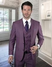 Two Button Ultra Slim Fit Prom Suit / Wedding Suit In Mauve