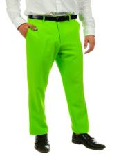 Mens Lime Green Suit Pants