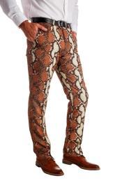 Mens Rattlers 100% Polyester snakeskin Pants