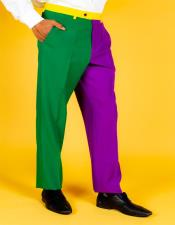 Multi Color 100% Polyester Slim Fit Suit Pants