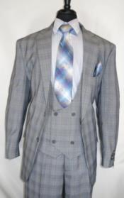 Vintage Suits Patterns Checkered Suit In Gray