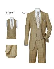 Vintage Suits Patterns Checkered Suit