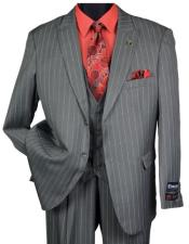 and Tall Grey Pinstripe Vested Suit