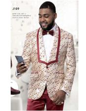 Mens wedding floral blazer