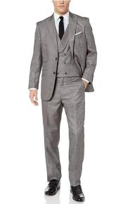 With Double Breasted Vest Peak Lapel Modern Fit 3-Piece (Jacket Vets