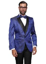 Floral Suit & Tuxedo Jacket and Pants and Bow Tie Royal