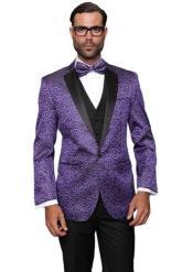 One Chest Pocket Paisley Floral Suit