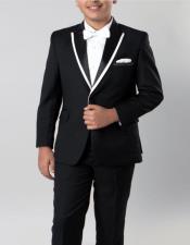 Tuxedo Black with White Trim 4 -Piece Set for Kids Teen