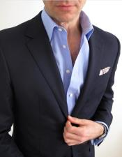 Suit and Sky Blue Shirt