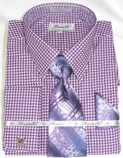 Mens Gingham Dress Shirt