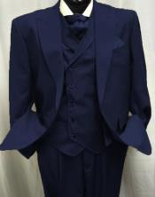 Navy Blue Two Button Old Fashioned School Style Suit
