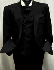Black Peak Lapel Old Fashioned Vintage Suits