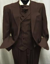 Dark Brown Old Fashioned Vintage Suits