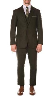 Old Fashioned School Style Suit 1800s Vintage Hunter Green