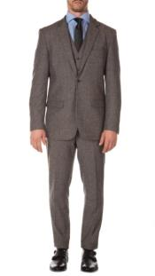 Old Fashioned School Style Suit 1800s Vintage Grey
