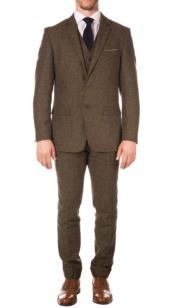 Old Fashioned School Style Suit 1800s Vintage Cognac