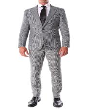 Vintage Gray Peak Lapel Slim Fit School Style Suit