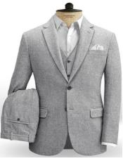 Old Fashioned School Style Suit 1800s Vintage Plain Gray