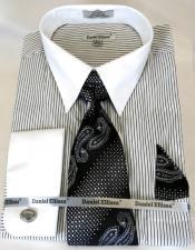 White Colorful Mens Dress Shirt