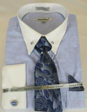 Powder Blue Colorful Mens Dress Shirt