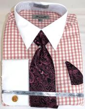 Houndstooth Colorful Mens Dress Shirt