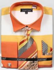Mens Fashion Dress Shirts and Ties Mens Yellow Rugby Stripe Dress Shirt
