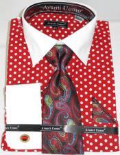 Poka Dot Colorful Mens Dress Shirt