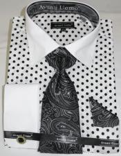 White Black Colorful Mens Dress Shirt