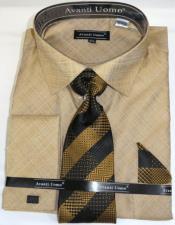 Shiny-Ivory-Color-Shirt-Tie