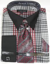 Black Grey Colorful Mens Dress Shirt