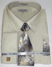 Beige Colorful Mens Dress Shirt