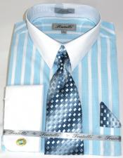 Aqua Colorful Pinstripe Pattern - White