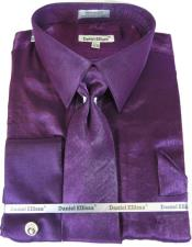 Purple Colorful Mens Sateen Dress Shirt