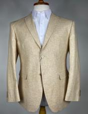 Cream Peak Lapel Blazer