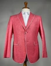 Pink 2 Button  Peak Lapel Blazer
