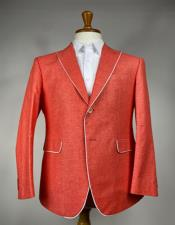 Mens Red One Chest Pocket Blazer