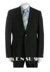 Attire - Funeral Outfit - Funeral Clothes Mens Solid Black Suit