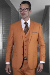 Rust Ultra Slim Fit Prom Suit or Wedding Suit