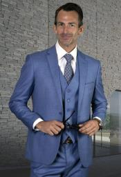 Mens Steel Blue Ultra Slim Fit Prom Suit - Dusty Blue Suit