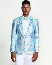 Floral Tuxedo Jacket Slim Fit - Blazer - Prom - Wedding