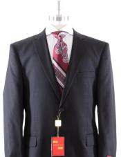 Solid Black Suit- High End Suits - High Quality Suits