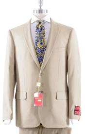Solid Khaki Suit- High End Suits - High Quality Suits