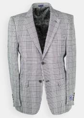 Mens Glen Plaid - Windowpane houndstooth Blazer