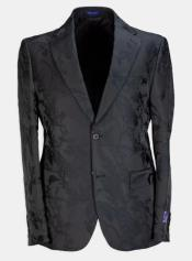 Paisley - Floral Suit (Jacket and Pants) Black - Mens Flower Suit