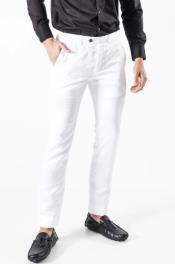 Mens Pants Chaps - White