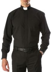Mens Big and Tall Shirts Black - Full Circle Tab