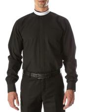 Mens Big and Tall Shirts Black - Small Tab