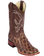 Botas De Pescado Los Altos Boots Pirarucu Cowboy Boots Cognac